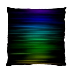 Blue And Green Lines Standard Cushion Case (two Sides)