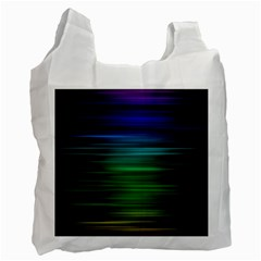 Blue And Green Lines Recycle Bag (Two Side)