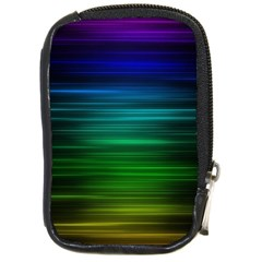 Blue And Green Lines Compact Camera Cases