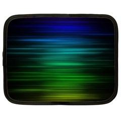 Blue And Green Lines Netbook Case (XXL)