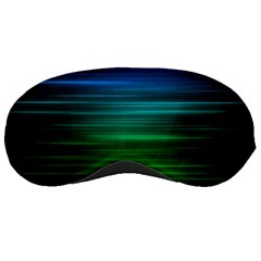 Blue And Green Lines Sleeping Masks