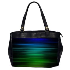 Blue And Green Lines Office Handbags (2 Sides)