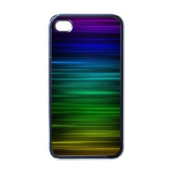 Blue And Green Lines Apple Iphone 4 Case (black)