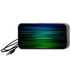 Blue And Green Lines Portable Speaker (Black)