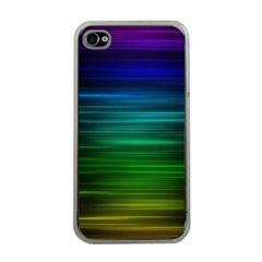 Blue And Green Lines Apple iPhone 4 Case (Clear)