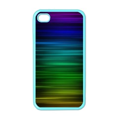 Blue And Green Lines Apple iPhone 4 Case (Color)