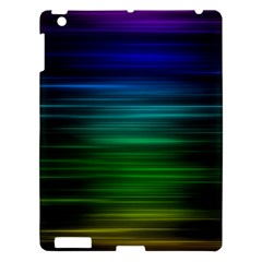 Blue And Green Lines Apple iPad 3/4 Hardshell Case