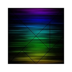 Blue And Green Lines Acrylic Tangram Puzzle (6  x 6 )
