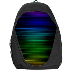 Blue And Green Lines Backpack Bag