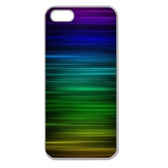 Blue And Green Lines Apple Seamless Iphone 5 Case (clear)