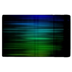 Blue And Green Lines Apple iPad 3/4 Flip Case