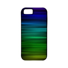 Blue And Green Lines Apple Iphone 5 Classic Hardshell Case (pc+silicone)