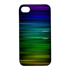 Blue And Green Lines Apple Iphone 4/4s Hardshell Case With Stand