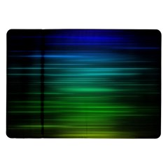 Blue And Green Lines Samsung Galaxy Tab 10.1  P7500 Flip Case