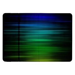 Blue And Green Lines Samsung Galaxy Tab 8 9  P7300 Flip Case