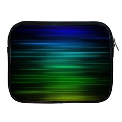 Blue And Green Lines Apple iPad 2/3/4 Zipper Cases