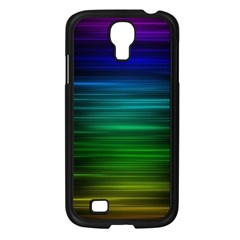 Blue And Green Lines Samsung Galaxy S4 I9500/ I9505 Case (Black)