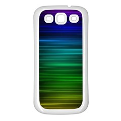 Blue And Green Lines Samsung Galaxy S3 Back Case (white)