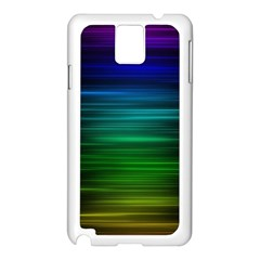 Blue And Green Lines Samsung Galaxy Note 3 N9005 Case (White)