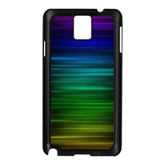 Blue And Green Lines Samsung Galaxy Note 3 N9005 Case (Black)