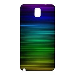 Blue And Green Lines Samsung Galaxy Note 3 N9005 Hardshell Back Case
