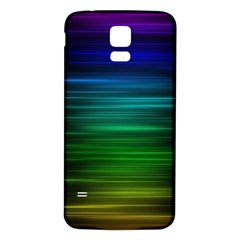 Blue And Green Lines Samsung Galaxy S5 Back Case (white)