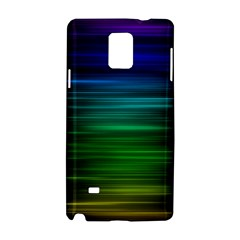 Blue And Green Lines Samsung Galaxy Note 4 Hardshell Case