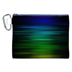 Blue And Green Lines Canvas Cosmetic Bag (XXL)