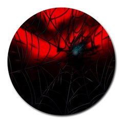 Spider Webs Round Mousepads
