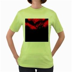 Spider Webs Women s Green T-Shirt