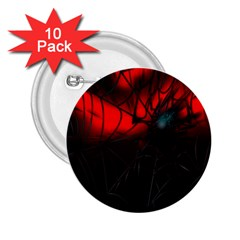 Spider Webs 2 25  Buttons (10 Pack)