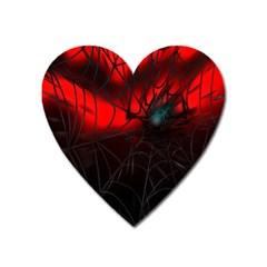 Spider Webs Heart Magnet