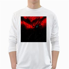 Spider Webs White Long Sleeve T-Shirts
