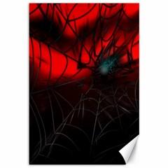 Spider Webs Canvas 12  X 18