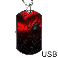 Spider Webs Dog Tag USB Flash (Two Sides)