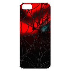 Spider Webs Apple iPhone 5 Seamless Case (White)