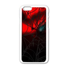 Spider Webs Apple iPhone 6/6S White Enamel Case