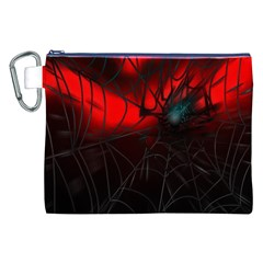 Spider Webs Canvas Cosmetic Bag (xxl)