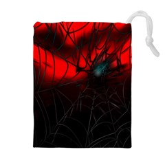 Spider Webs Drawstring Pouches (Extra Large)