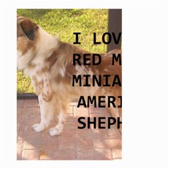 Mini Australian Shepherd Red Merle Love W Pic Small Garden Flag (Two Sides)