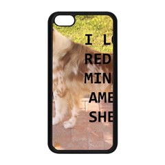 Mini Australian Shepherd Red Merle Love W Pic Apple iPhone 5C Seamless Case (Black)