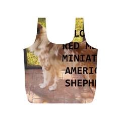 Mini Australian Shepherd Red Merle Love W Pic Full Print Recycle Bags (S)