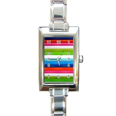 Colorful Plasticine Rectangle Italian Charm Watch