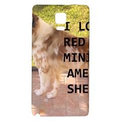 Mini Australian Shepherd Red Merle Love W Pic Galaxy Note 4 Back Case