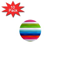 Colorful Plasticine 1  Mini Magnet (10 Pack)