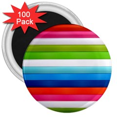 Colorful Plasticine 3  Magnets (100 Pack)