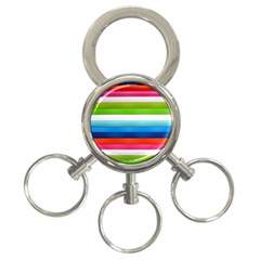 Colorful Plasticine 3-Ring Key Chains