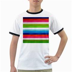 Colorful Plasticine Ringer T-Shirts