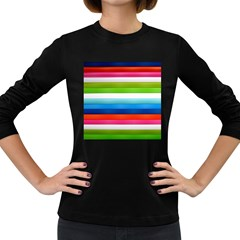 Colorful Plasticine Women s Long Sleeve Dark T-Shirts