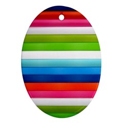 Colorful Plasticine Oval Ornament (two Sides)